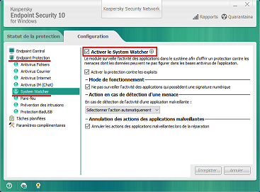 Kaspersky System Watcher